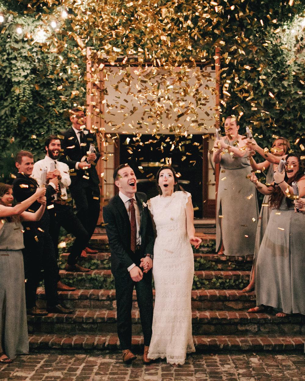 Gold Confetti Exit Wedding Reception Atlanta Summerour Studio Photographer Photography Anthology Daughters of Simone The Sentimentalist