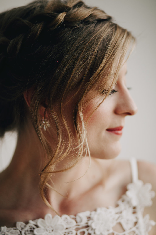 Bridal Hair Makeup Portrait Braid Simple Natural Photography Anthology Nashville Wedding