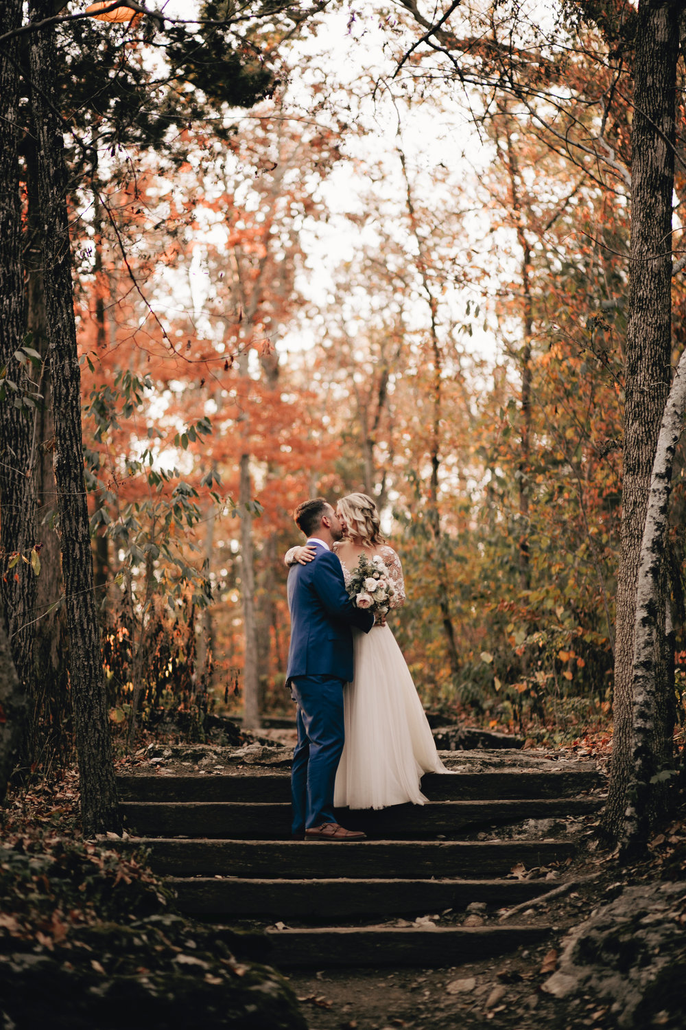 Fall Wedding Autumn The Wrens Nest Portrait Bride and Groom Photography Anthology