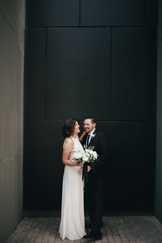Raleigh Durham Wedding Photographer City Urban Modern Simple Bride Groom Portrait Photos Photography Anthology