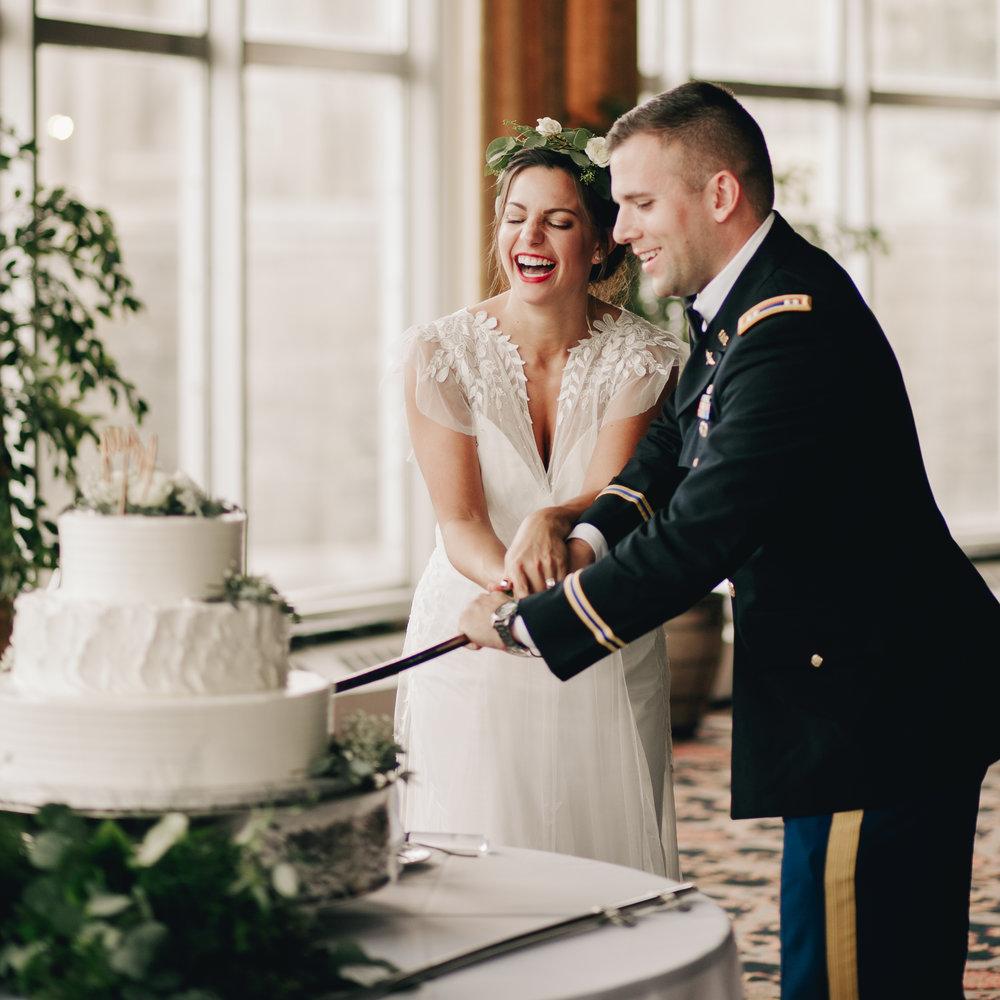 West Point Military Wedding Cake Cutting Photography Anthology