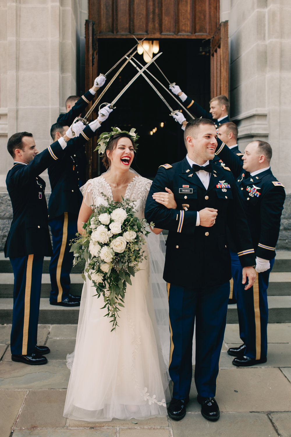 Saber Arch Military Wedding New York West Point Photography Anthology