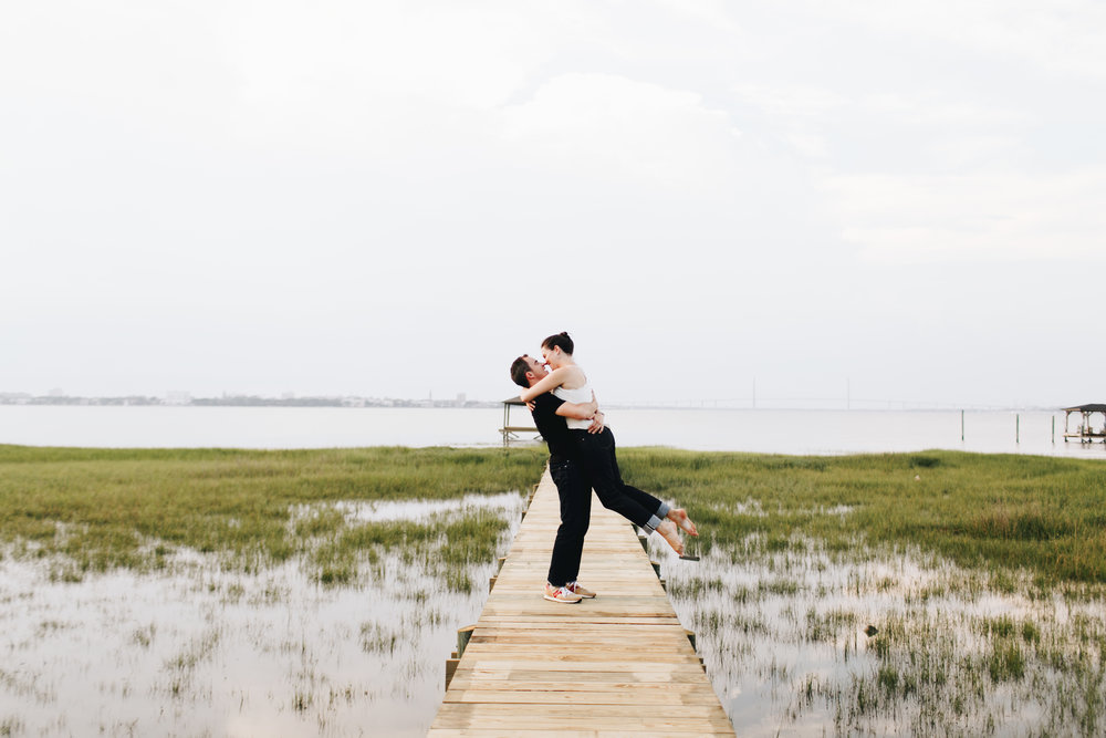 Photography Anthology - Charleston MArsh Engagement Sesison On Dock (25 of 47).jpg