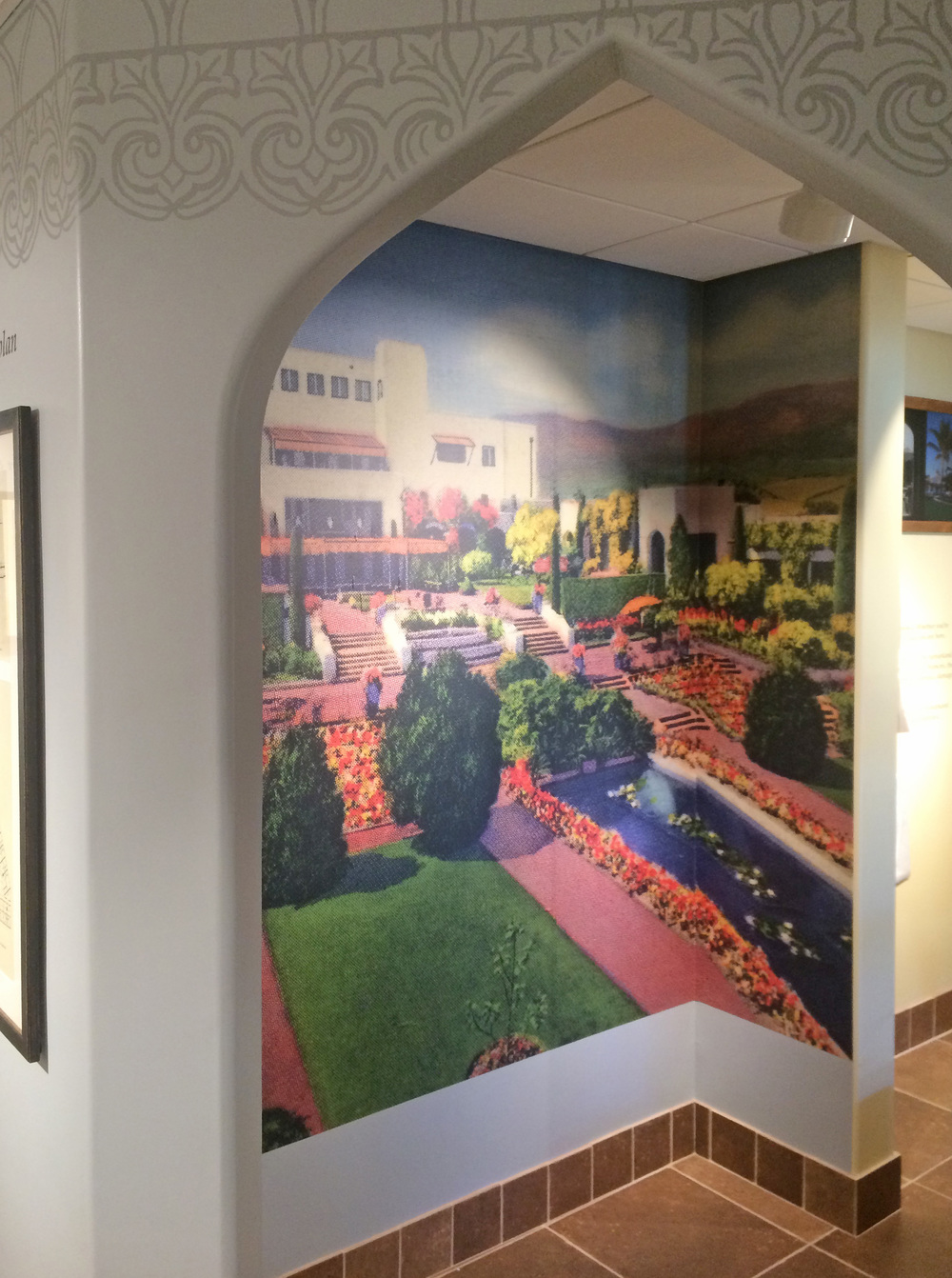 In this pic you can see some of the details added high on the walls as well as this blown up print that was actually from one of the original brochures.