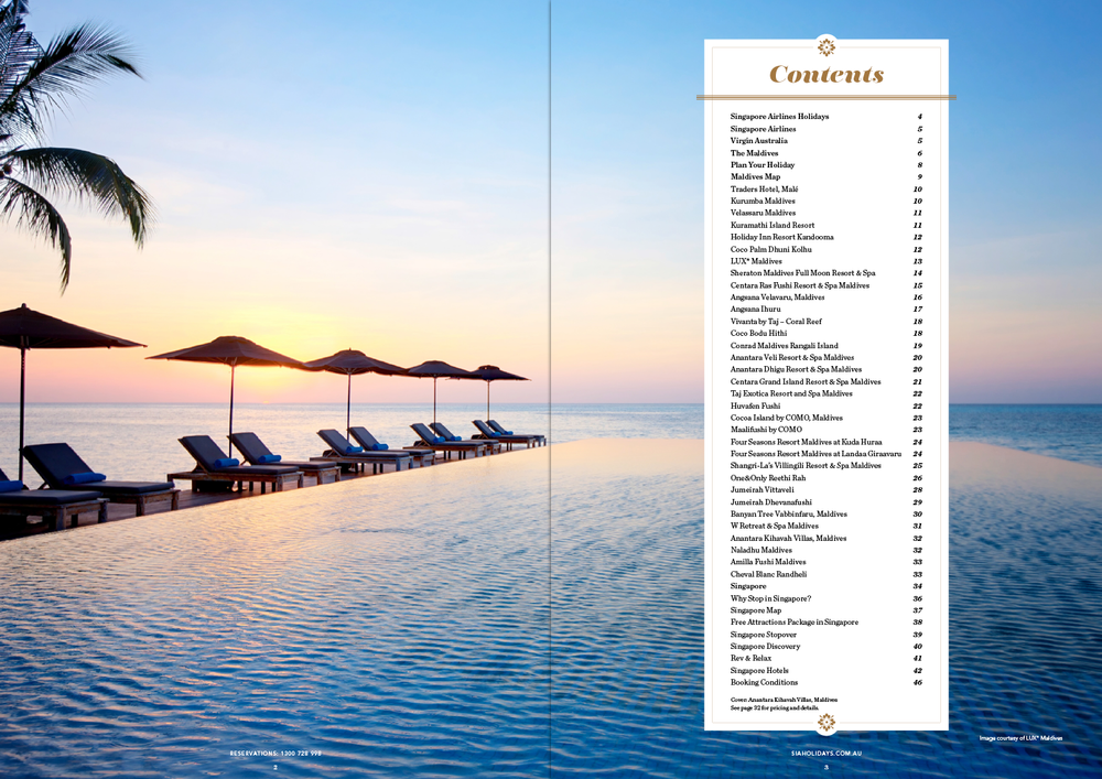 Maldives Brochure Spread