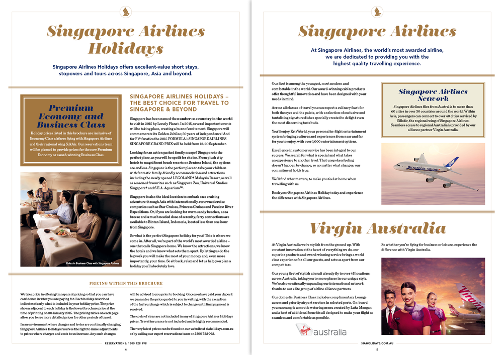 Singapore & Beyond: brochure spread