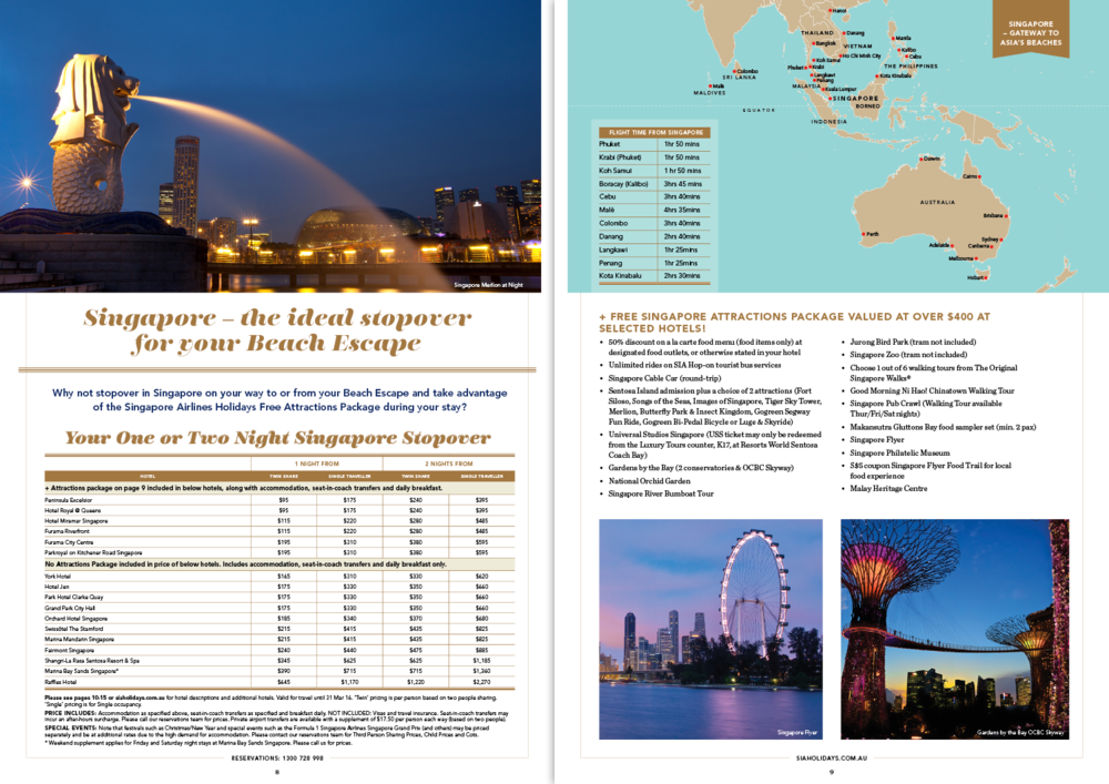Asia Beach Escapes: brochure spread