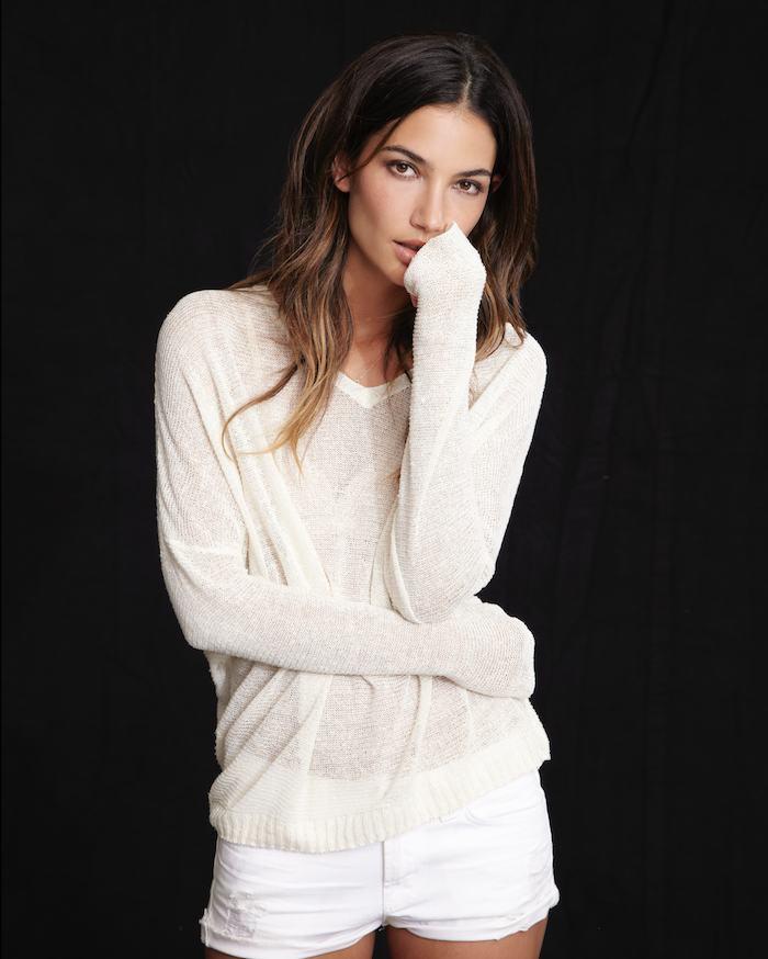 lily aldridge for velvet | treschicnow.com | spring 2014 | #fashion #lilyaldridge | Josie Sweater