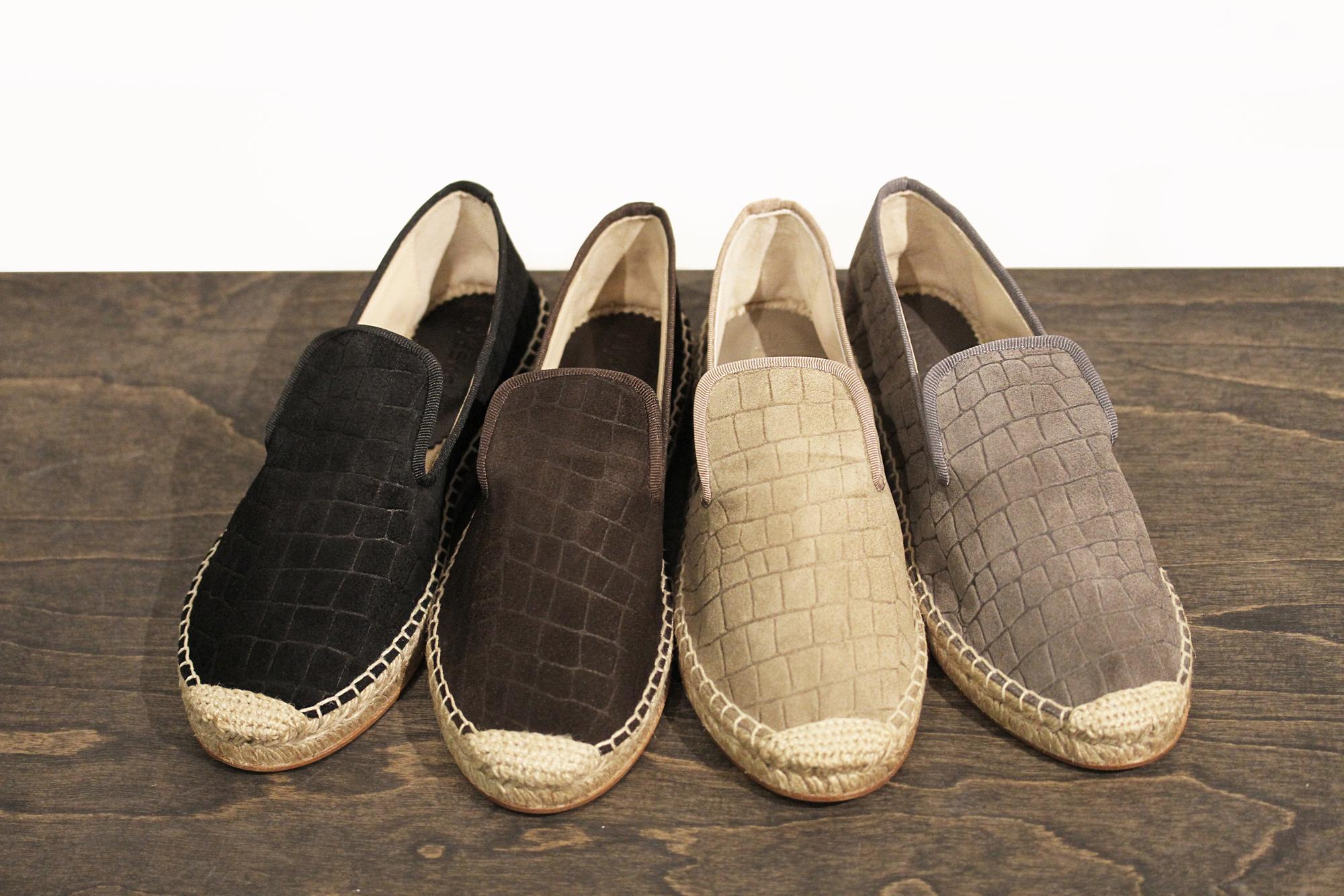 elyse walker flat espadrilles spain croc suede | treschicnow.com #spring #shoes