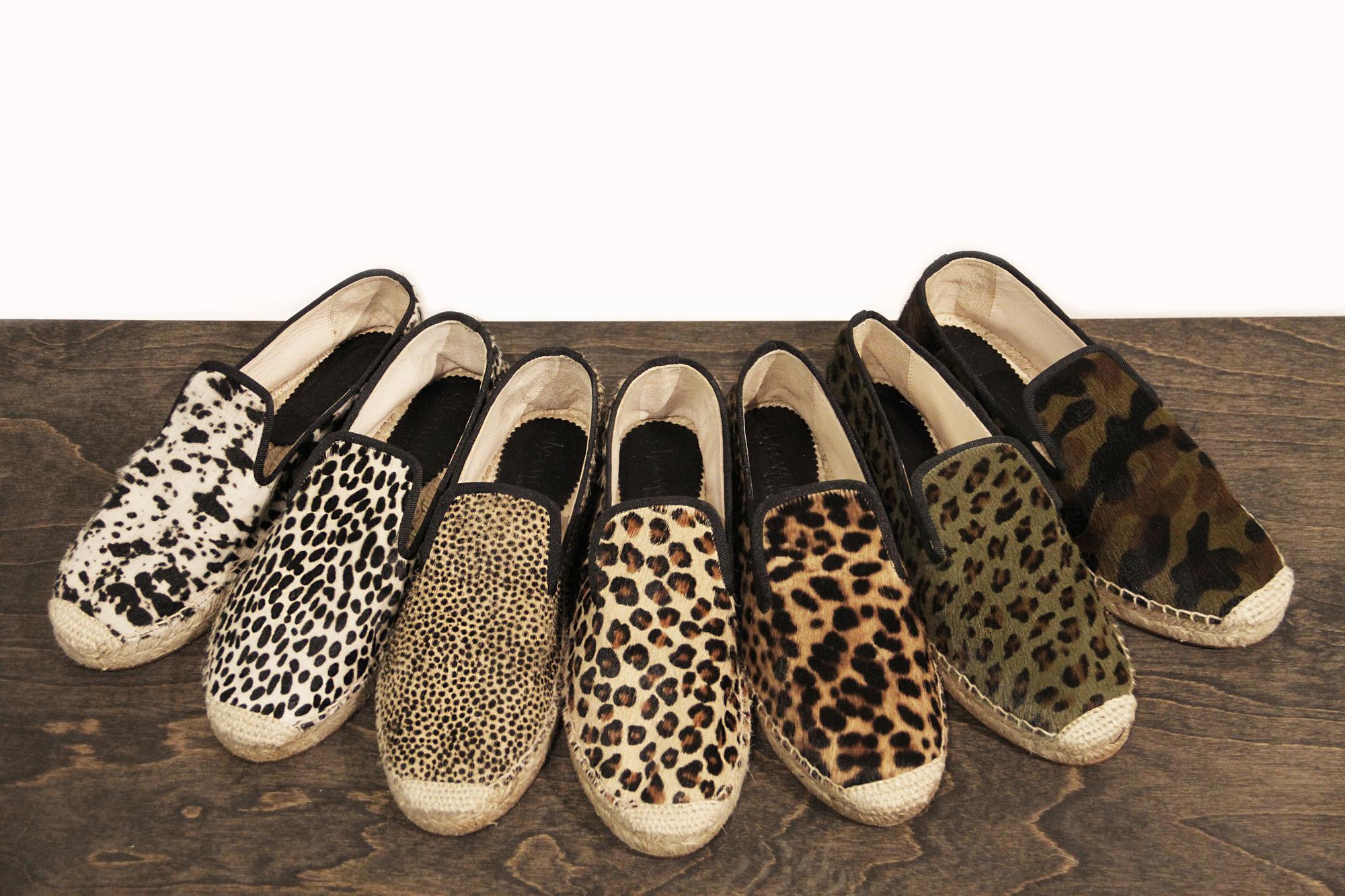 elyse walker flat espadrilles spain animal print | treschicnow.com #spring #shoes