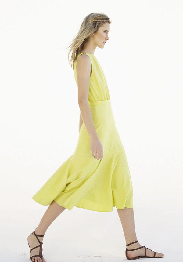 #heidimerrick #summer TresChicNow.com #yellow dress