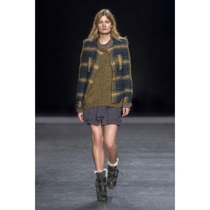 Isabel Marant Brown Grani Jacket | treschicnow.com #fall14 #fashion #style #plaid #isabelmarant