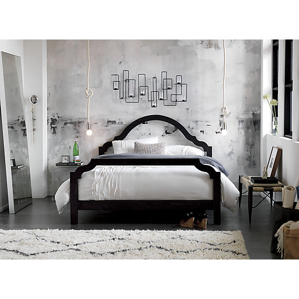 silhouette bed now on sale at cb2