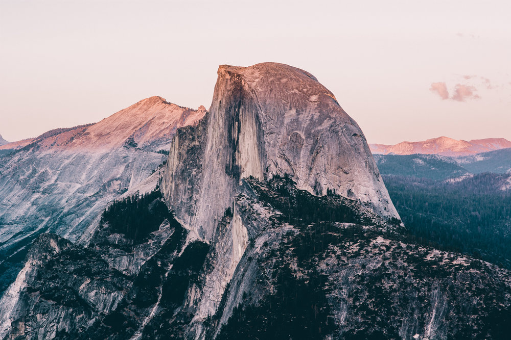 Half Dome from Glacier Point at Yosemite National Park, taken by  Keith Mokris on our trip in September.