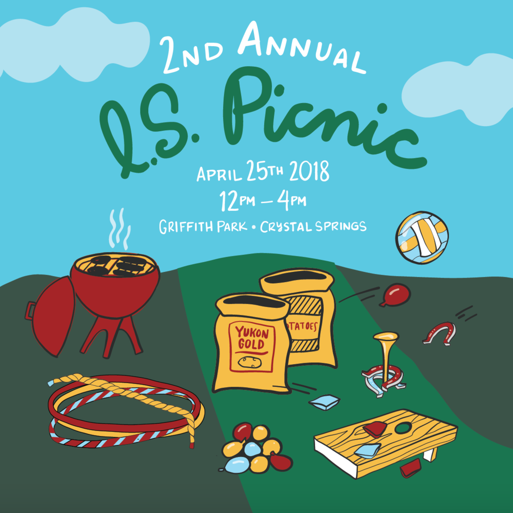 Information Services Team Picnic Invitation Illustrated