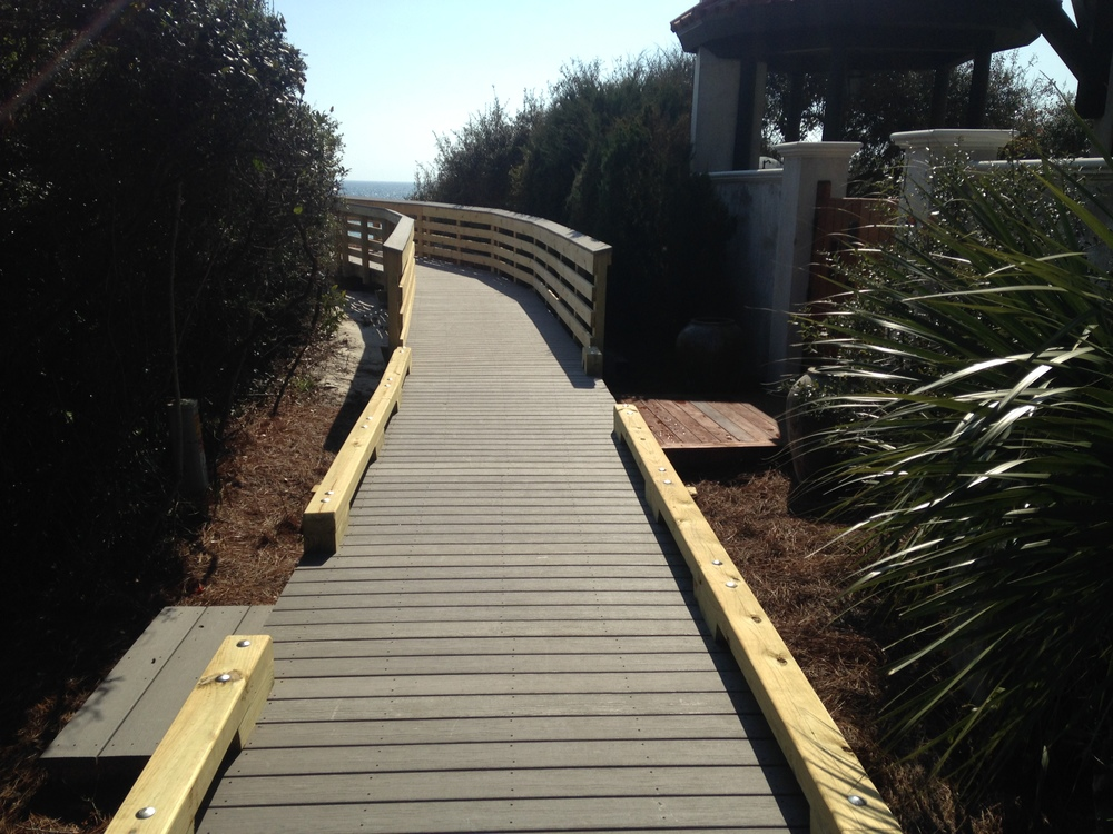 Dothan Ave Beach Access, Walton county, 4x6 curb transition to Handrail(1).JPG