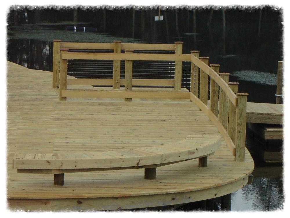 Boardwalk With Guardrail