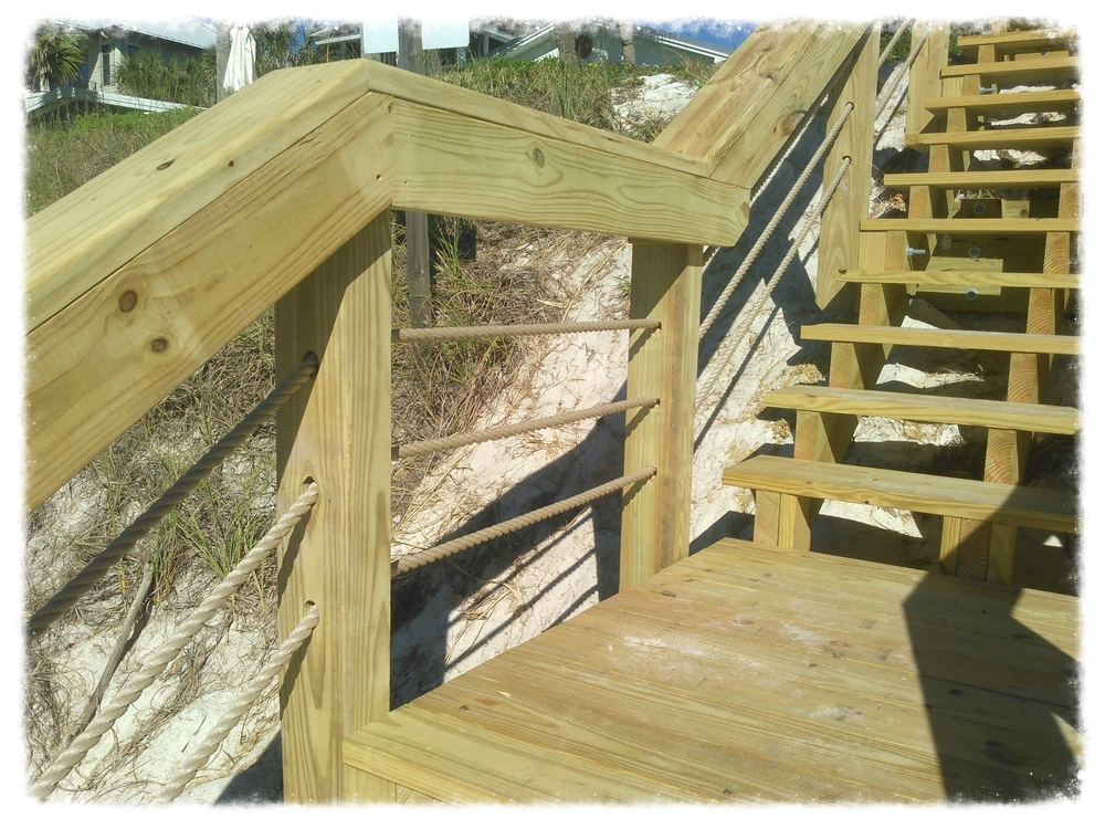 Beach Access with Handrail