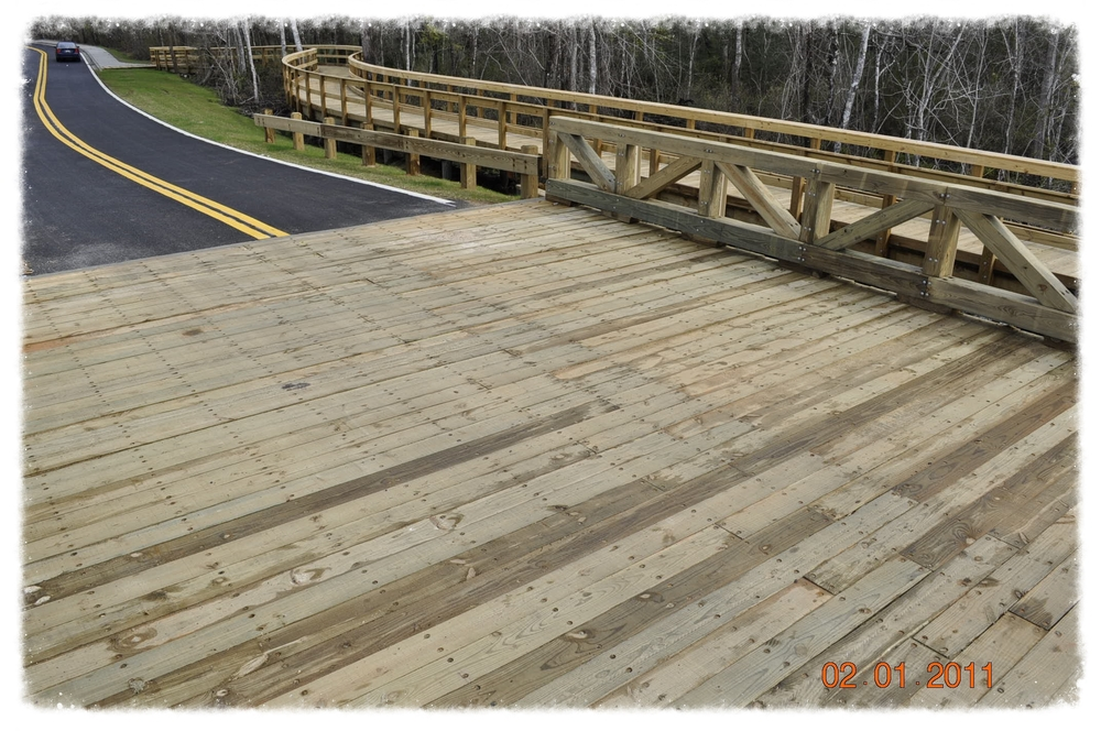Vehicular Bridge with Boardwalk
