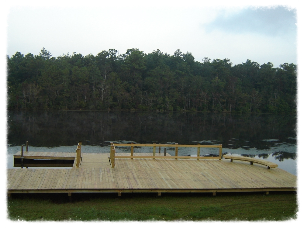 Wood Pier with Boardwalk