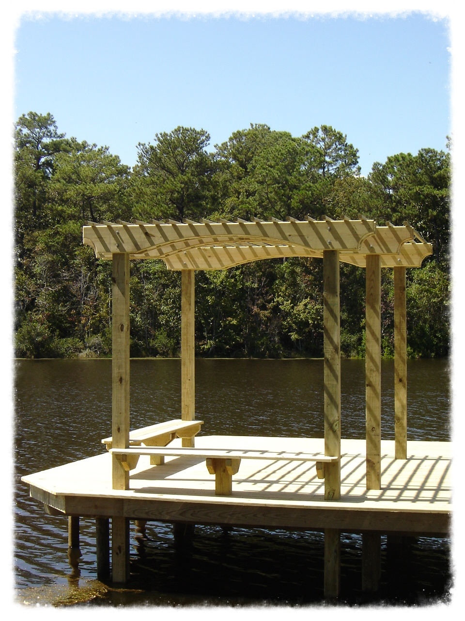 Shade Trellis on Boardwalk