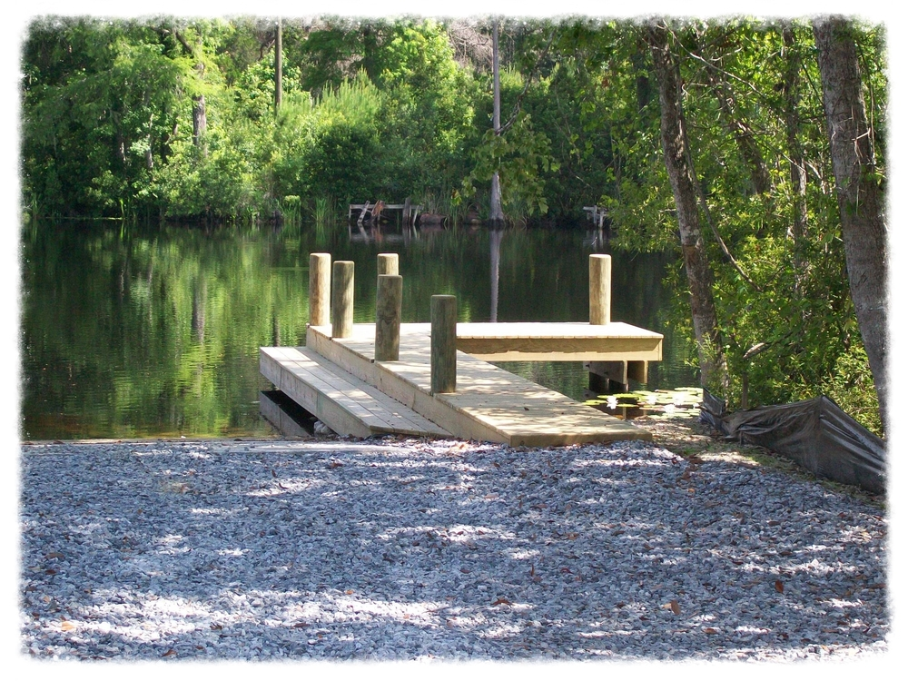 Boat Dock Pier with Boardwalk