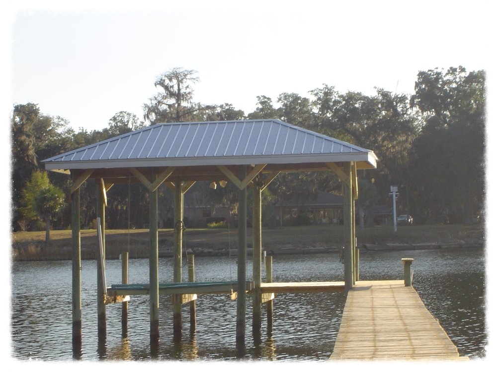 Deck and Boathouse