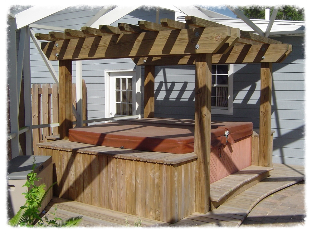 Pergola Hot Tub Cover