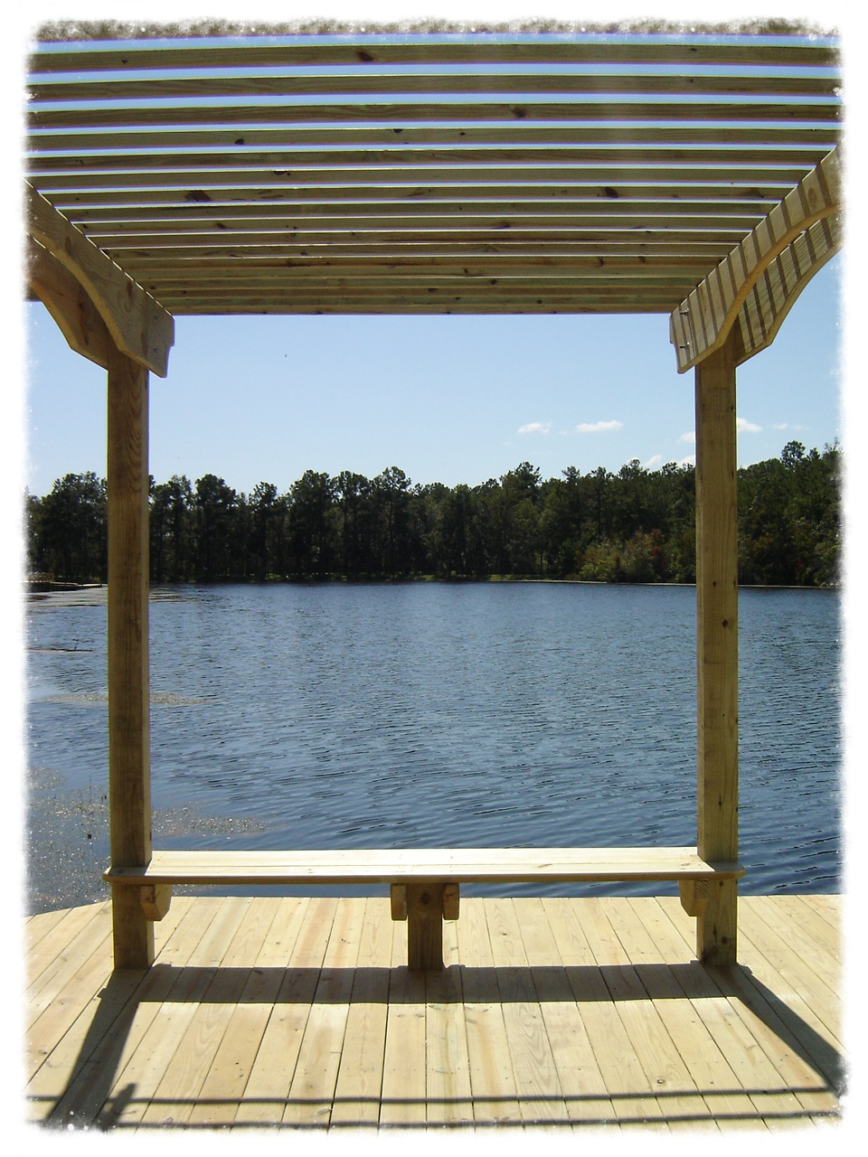 Dock with Pergola on Lake