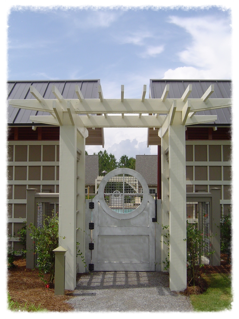 Entrance with Trellis