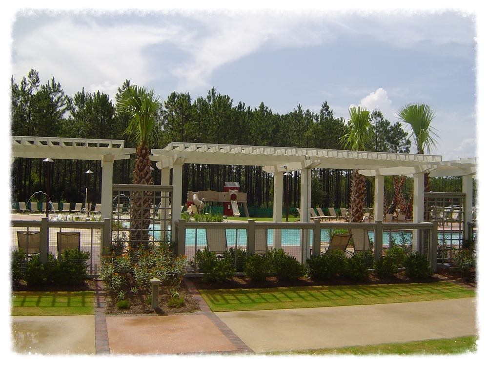 Shade Trellis and Pool
