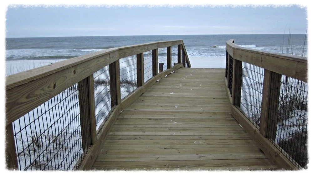 Timber Boardwalk Beach Crossing Construction