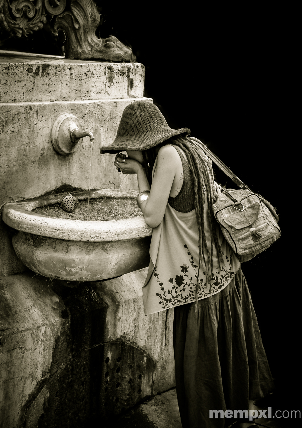 BVatican Fountain Girl-2 2014 WM.jpg