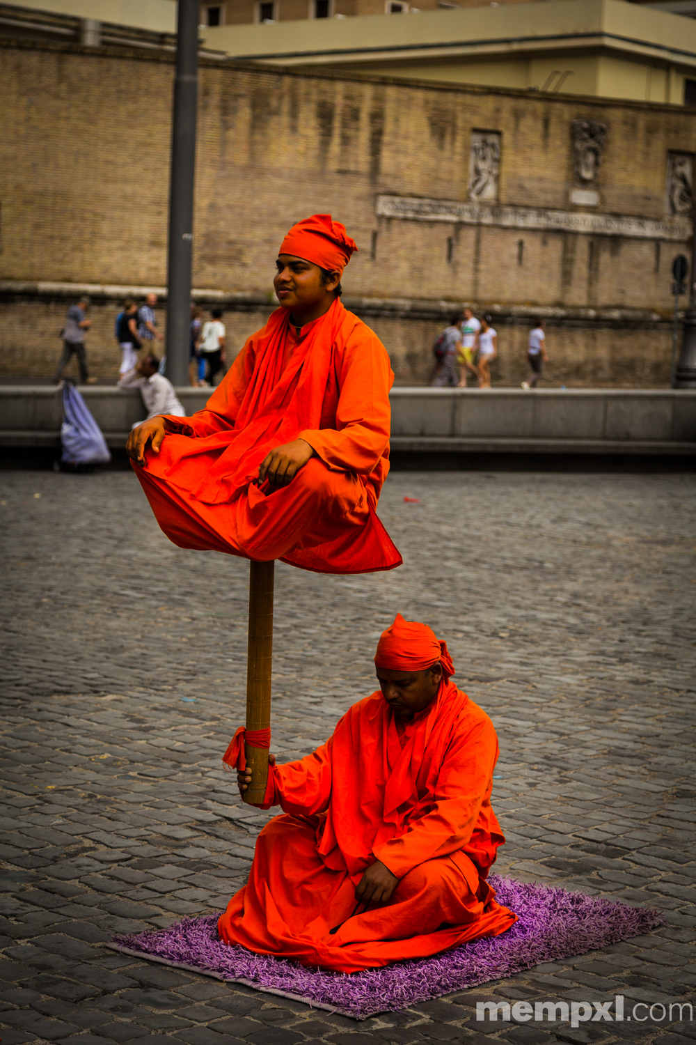 Street Performers near Vatican 2014 WM.jpg