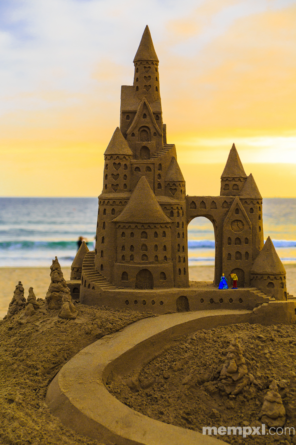 Coronado Sand Castle Sunset 2014 WM.jpg