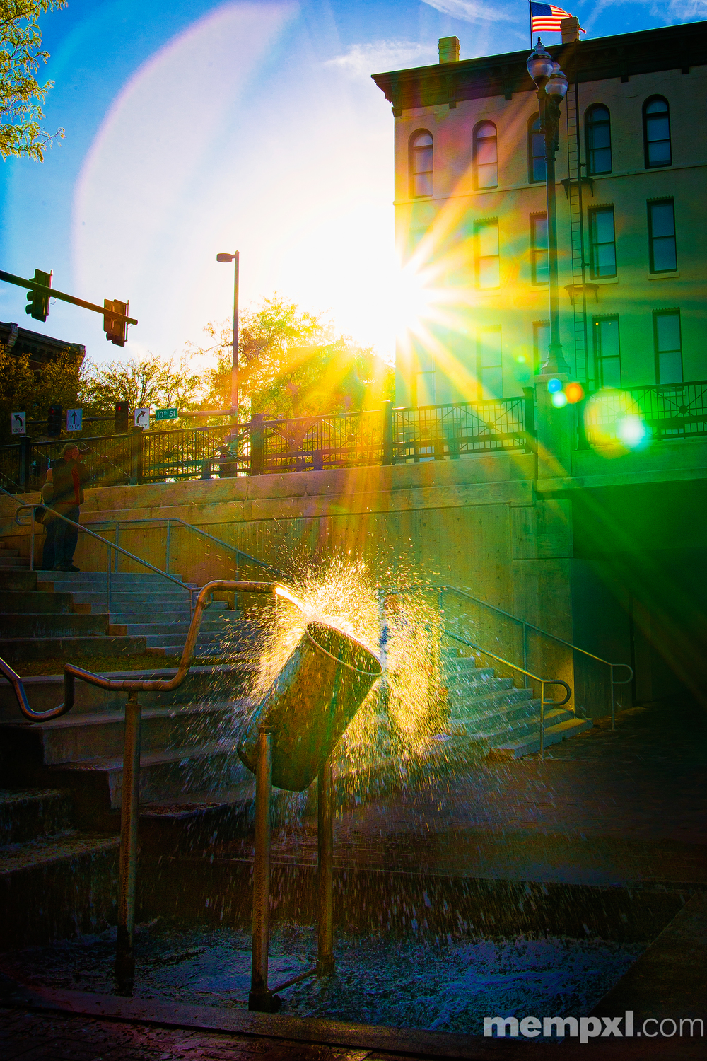 Water Bucket Sun Flare 2014 WM.jpg