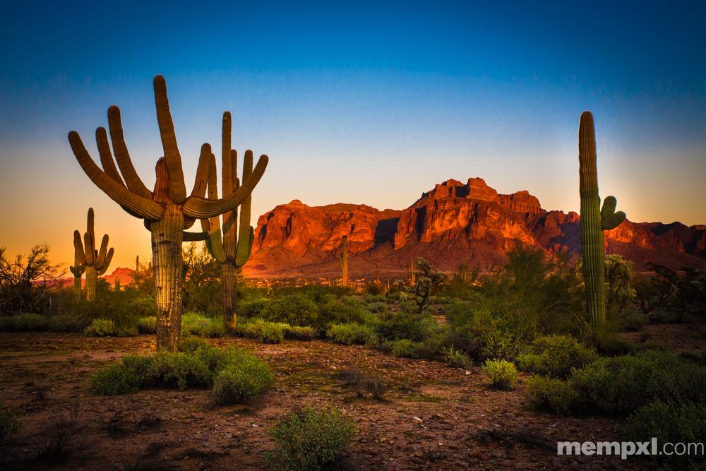 Superstition Mountains at Sunset - Arizona 2014
