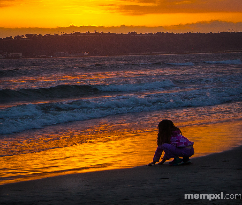 L'Girl Catching a Sunset Coronado 2014 WM.jpg