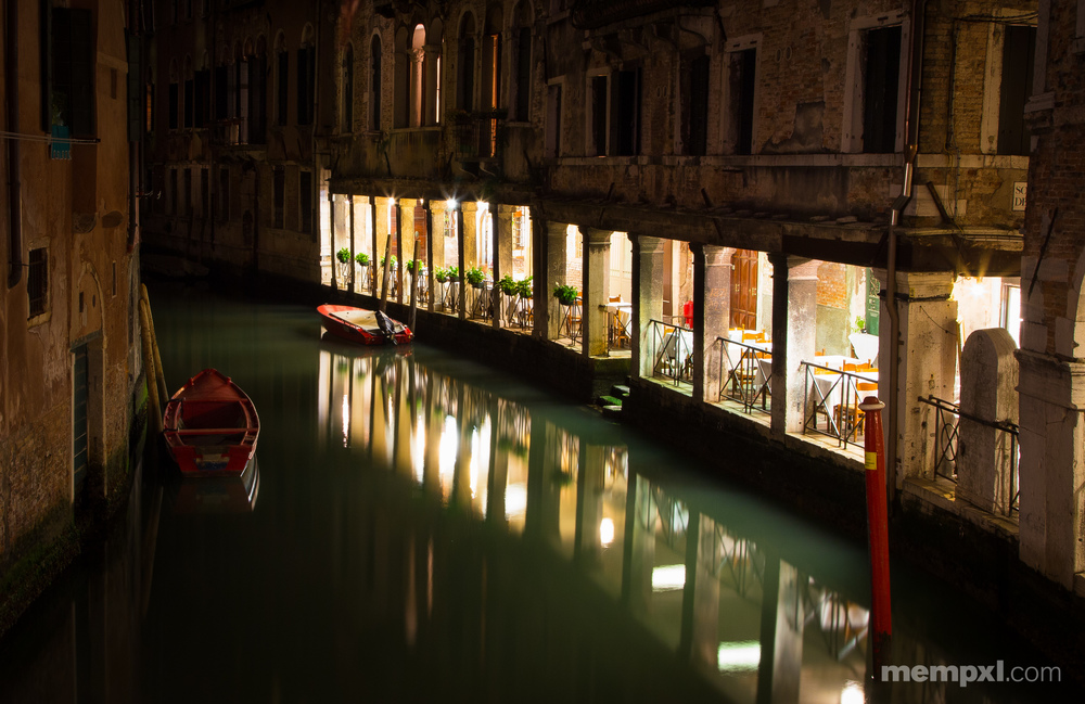 Serene Venetian Canal