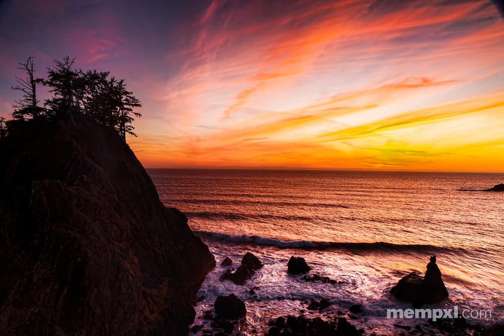 Oregon Coast Sunset Feb 2015