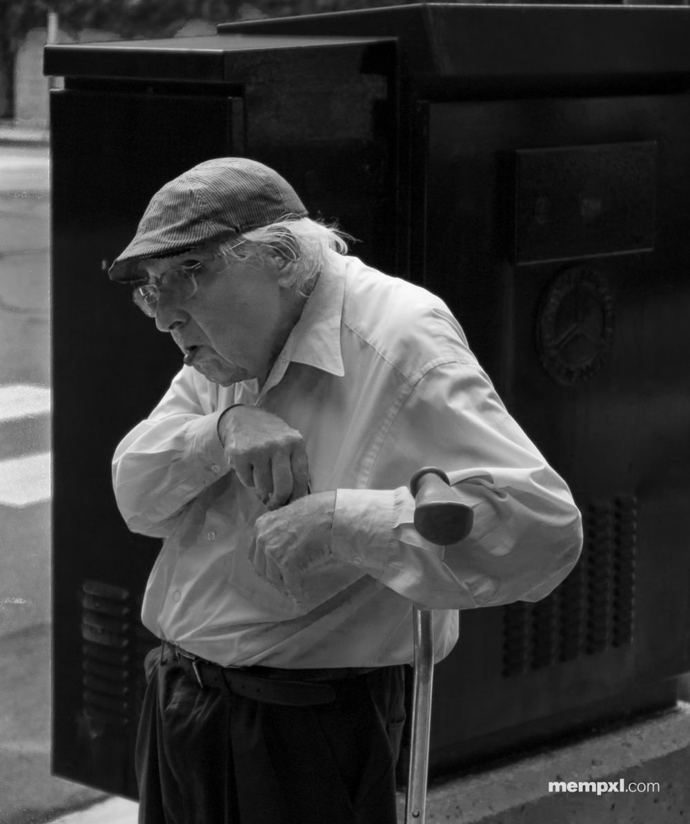 Chicago Photowalk Old Guy B-W - June 24 2015.jpg