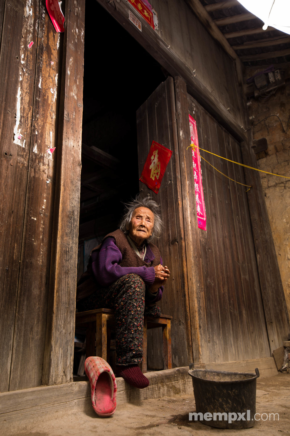 Chineese Lady in Purple2 - Guilin April 2015 WM.jpg