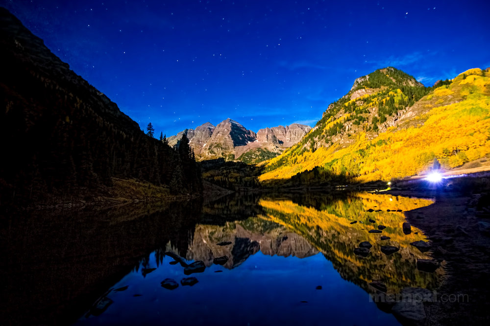 Starry Night - Maroon Bells, Colorado