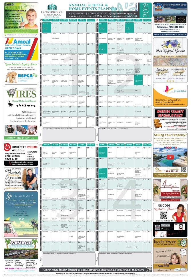 Landsborough State School 2019 Events Planner