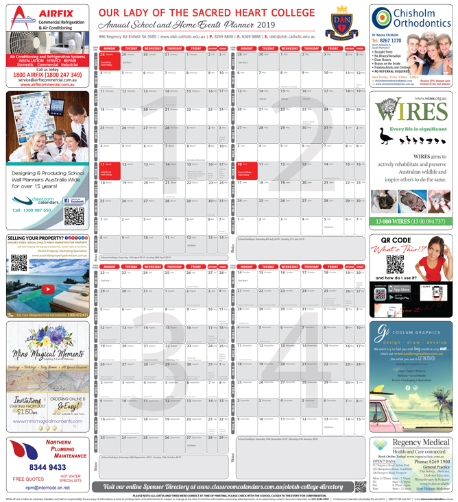 Our Lady of the Sacred Heart College 2019 Events Planner