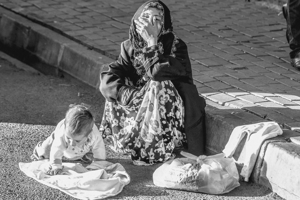 a roma gyspy woman in istanbul, turkey