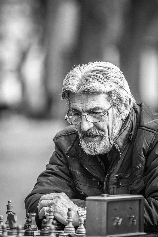 chess player in kalemegdan park in belgrade, serbia