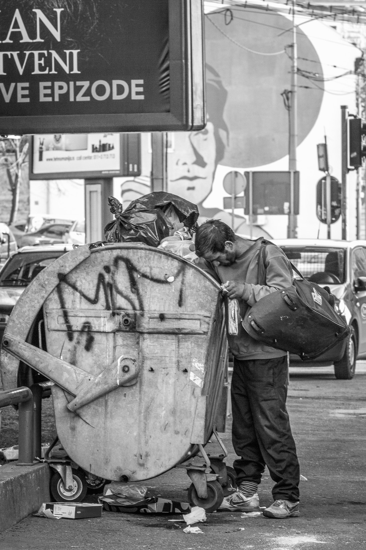 homeless in belgrade, serbia