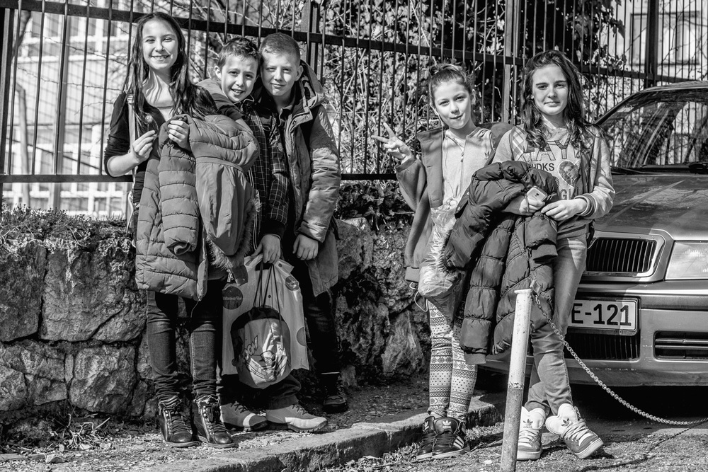 school girls in sarajevo, bosnia