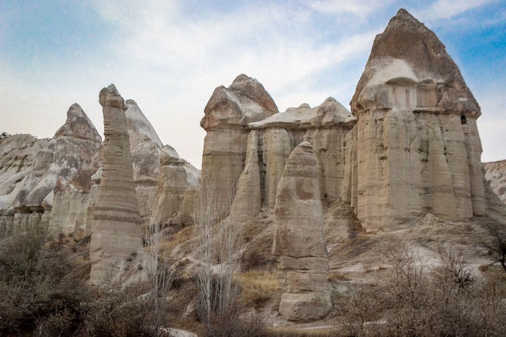 fairy chimneys outside of goreme, turkey